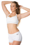 'Double Trouble' Sports Bra - White - Cassandra-Anne