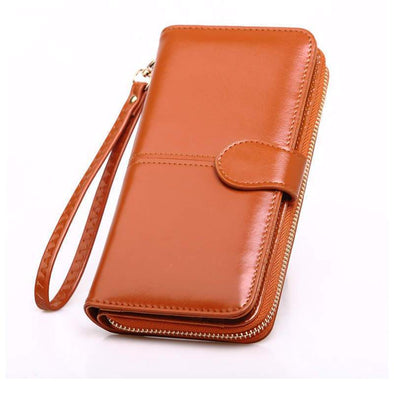 Women's Classic Solid Waterproof Bags Magnetic Snap Wallet  - Marfuny