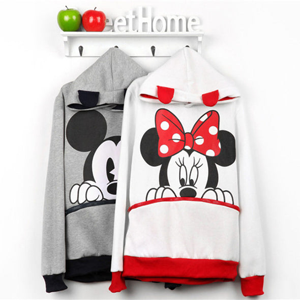 Mickey Print Hoodie with Pocket