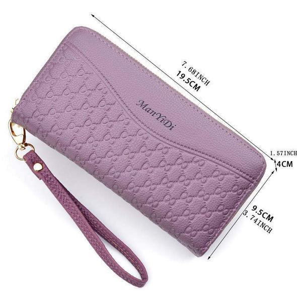 Women's Classic Multi-Pocket Large Capacity Zipper Women Wallet - Marfuny