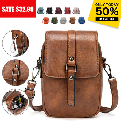 Multi-Functional Soft Leather Phone Bag