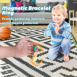 Finger fancy magnetic ring decompression toy
