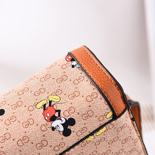 Mickey Print Classic Shoulder Bag