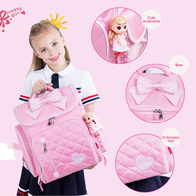 Children Backpacks with Roller Large School Bags For Boys Girls