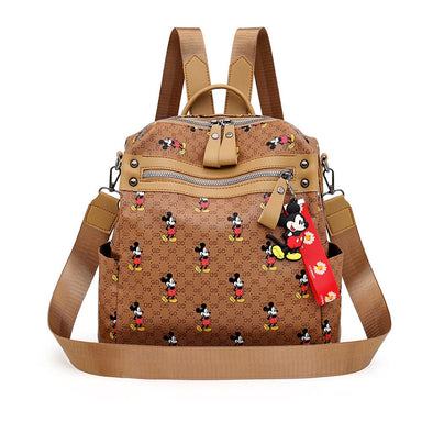 Mickey Print Large Capacity Backpack