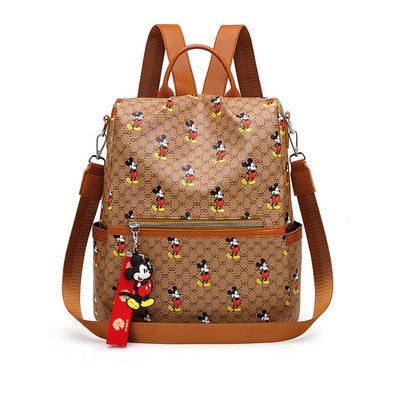 Mickey Classic Print Anti-theft Backpack