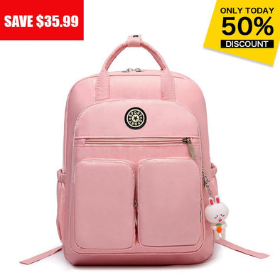 Women's Fashion Casual Bag Multi-pocket Large Capacity High Quality Anti-theft Zipper Backpack