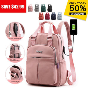 Anti-theft Large Capacity Waterproof Laptop Backpack with USB Charging Port