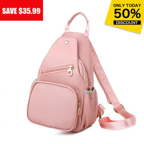 Women's Casual Waterproof Anti-theft Messenger Bag 2 in 1 Backpack & Chest Bag