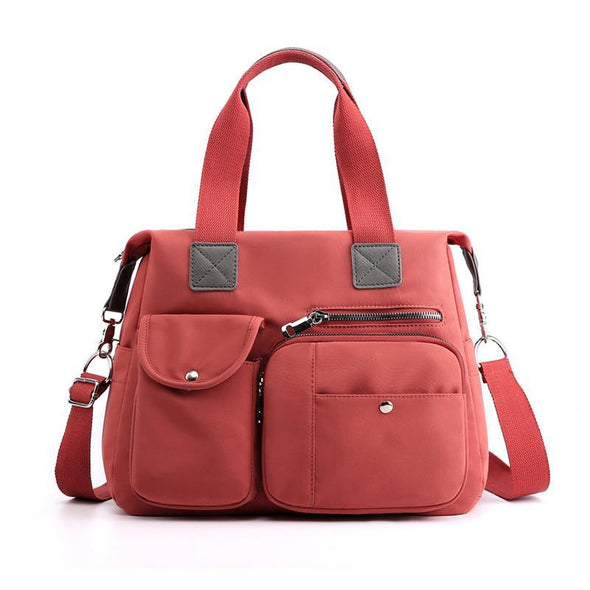 Women's Classic Solid Waterproof Nylon Bags Multi-pocket Multifunctional Zipper Crossbody Bags - Marfuny