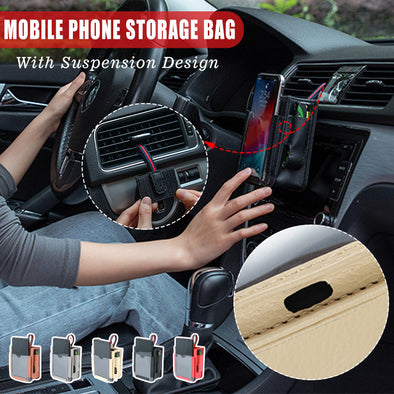 Multifunctional car phone storage bag