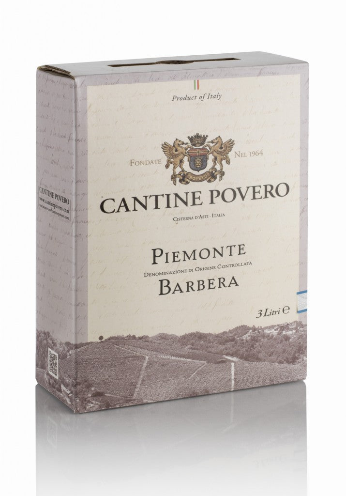 Piemonte Barbera DOC 12,5% vol. bag in box 3 litri