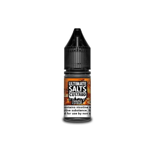10MG Ultimate Puff Salts Custard 10ML Flavoured Nic Salts