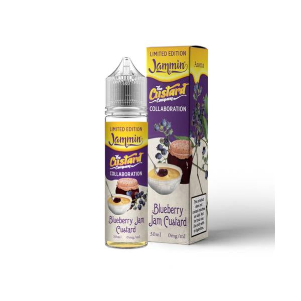 Jammin Limited Edition 0mg 50ml Shortfill (70VG-30PG) - Blueberry Jam Custard