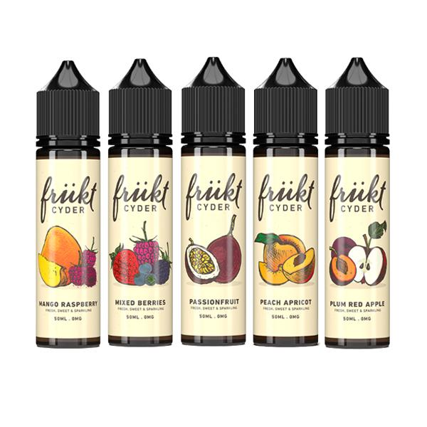 Frukt Cyder 0mg 50ml Shortfill E-liquid (70VG/30PG)