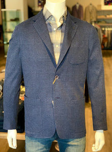 Soft Blue Plaid Sport Coat by Canali