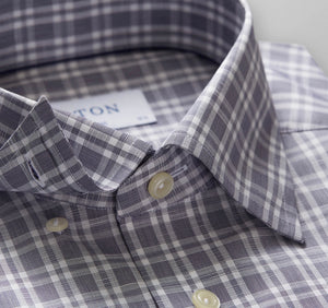 Eton Contemporary  2040  Linen And Cotton  Wrinkle Free  Plaid