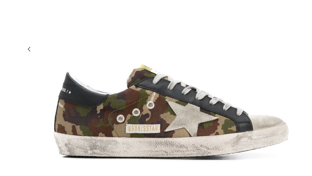 Golden Goose Camo Sneaker Superstar