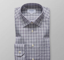 Load image into Gallery viewer, Eton Contemporary  2040  Linen And Cotton  Wrinkle Free  Plaid