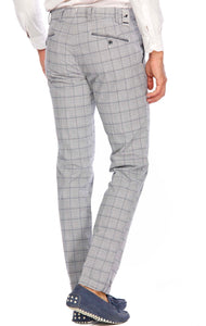 Mason's Cotton Plaid Pant  Available in Two Colors