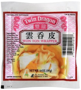 Twin Dragon - Won Ton Wrapper - 14oz