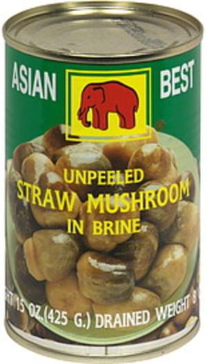 Asian Best - Straw Mushroom Unpeeled - 15oz