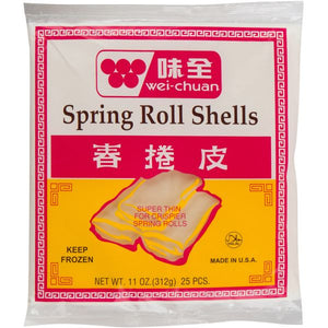 Wei Chuan - Spring Roll Shells Wrappers - 25Pcs