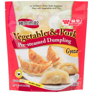 Wei Chuan - Vegetable & Pork, Pre Steamed Dumpling - 23.4oz