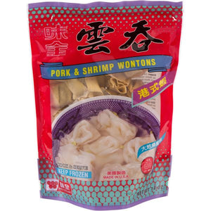 Wei Chuan - Pork & Shrimp Wontons - 16oz