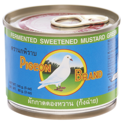 Pigeon Brand - Fermented Sweetened Green Mustard Slices In Soy Sauce - 5oz