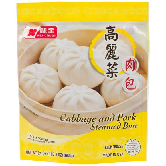 Wei Chuan - Cabbage & Pork Steamed Bun - 23oz