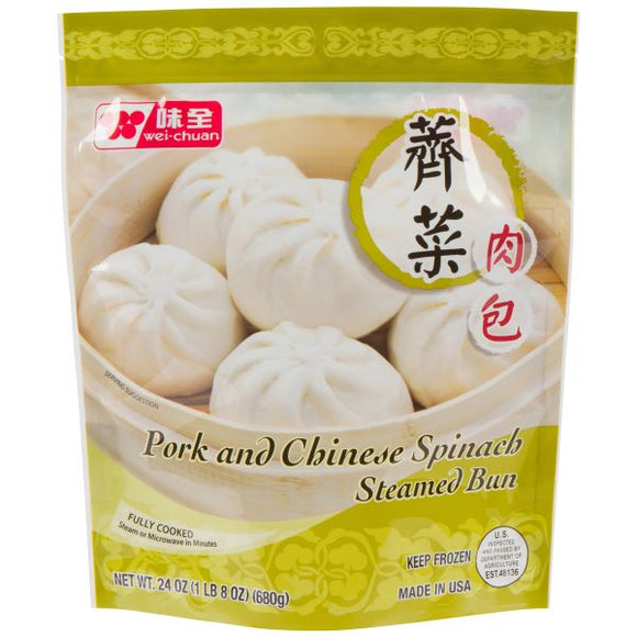 Wei Chuan - Spinach & Pork Steamed Bun - 23oz