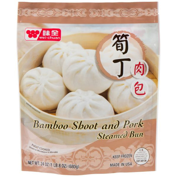 Wei Chuan - Namboo Shoot & Pork Steamed Bun - 23oz