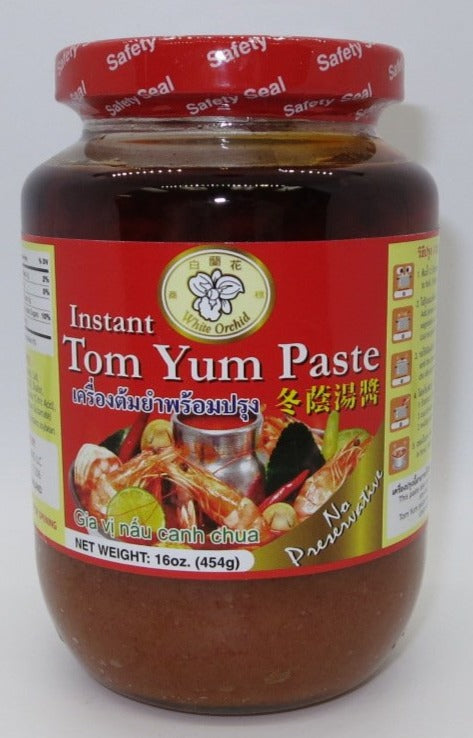 White Orchid - Instant Tom Yum Paste - 16oz