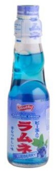 Shirakiku-Ramune Drink Blueberry-6.76oz