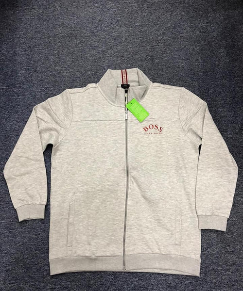 Boss Curved Logo Grey Jacket