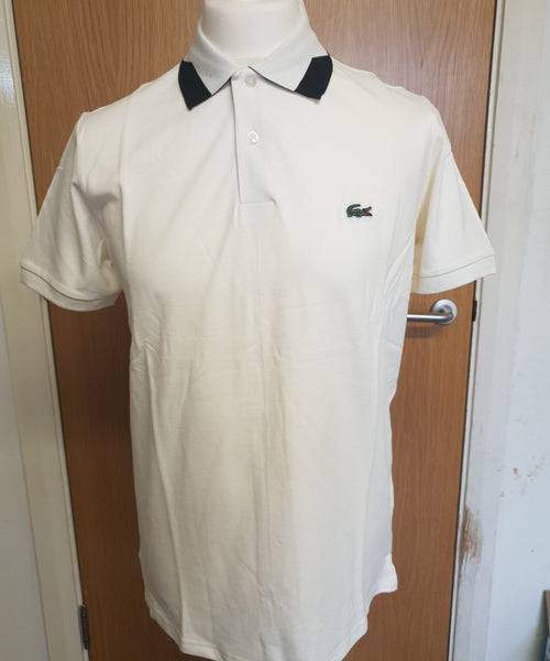 Lacoste Polo Top With Tipped Collar