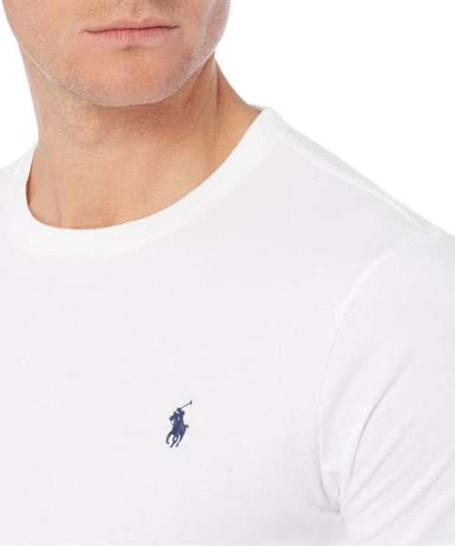 Ralph Lauren White Crew Neck T-shirt With Black Pony - Brand The Man