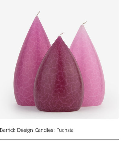 Barrick Design Candles: Fuchsia