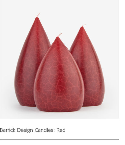 Barrick Design Candles: Red