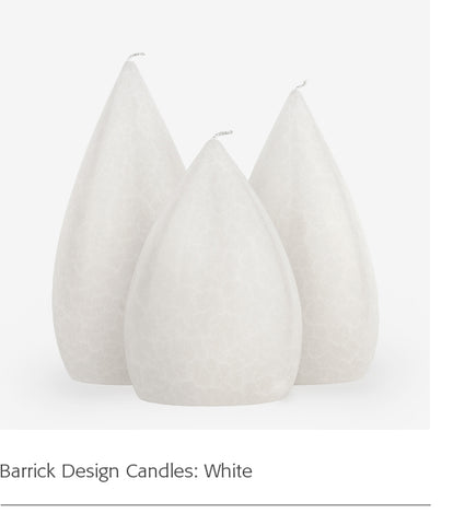 Barrick Design Candles: White