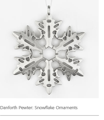 Danforth Pewter: Snowflake Ornaments