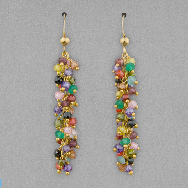 Anna Balkan Earrings: Riley Tailfeather, Gold with Multigem