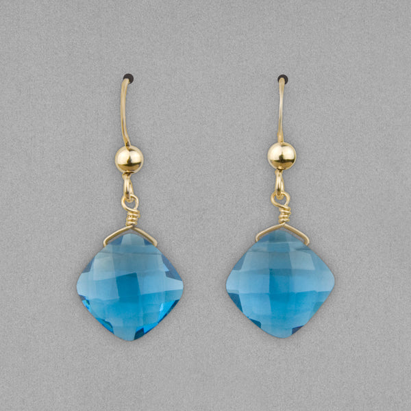 Anna Balkan Earrings: Kylie Fun, Gold with Spinel