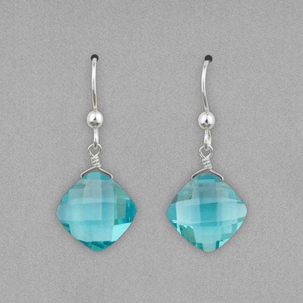 Anna Balkan Earrings: Kylie Fun, Silver with Fluorite