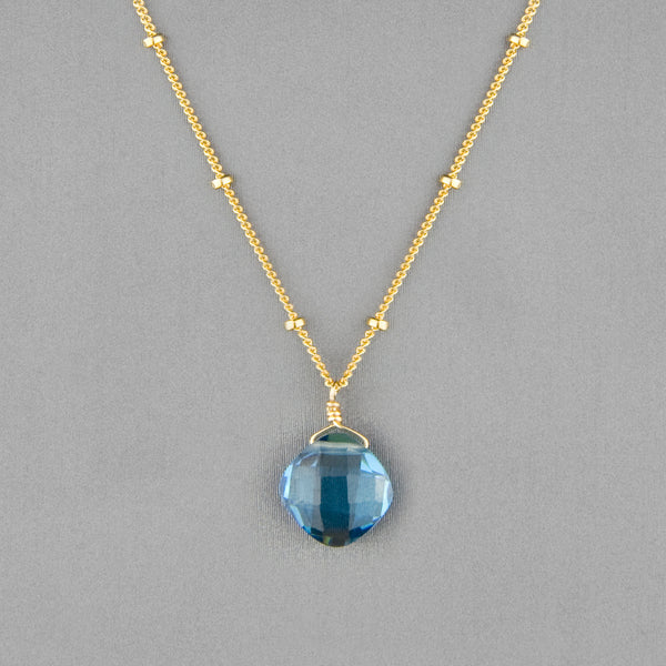Anna Balkan Necklace: Kylie Single Gem, Gold with Spinel