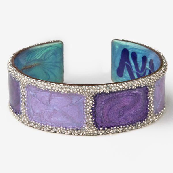 Ava Austin Studios: Silver Box FaCuff: Purple, Light Purple