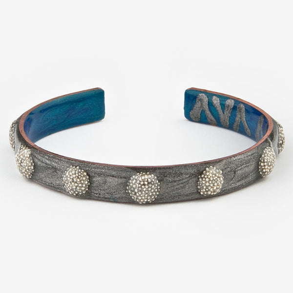 Ava Austin Studios: Silver Dots FaCuff: Pewter
