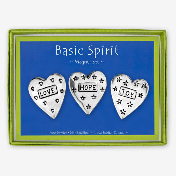 Basic Spirit: Magnet Sets: Hearts: Love, Hope, Joy