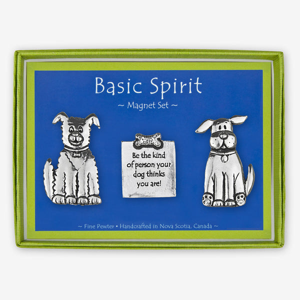 Basic Spirit: Magnet Sets: Two Dogs with Quote